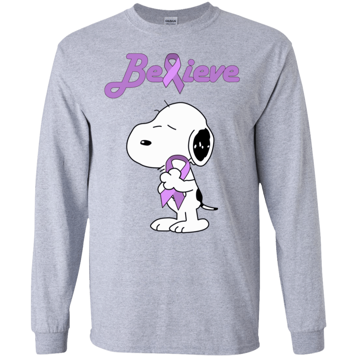 Snoopy: Believe All Cancers Lavender Awareness T-Shirts, Hoodie, Tank 30-188-77772513-335 - Tee Ript