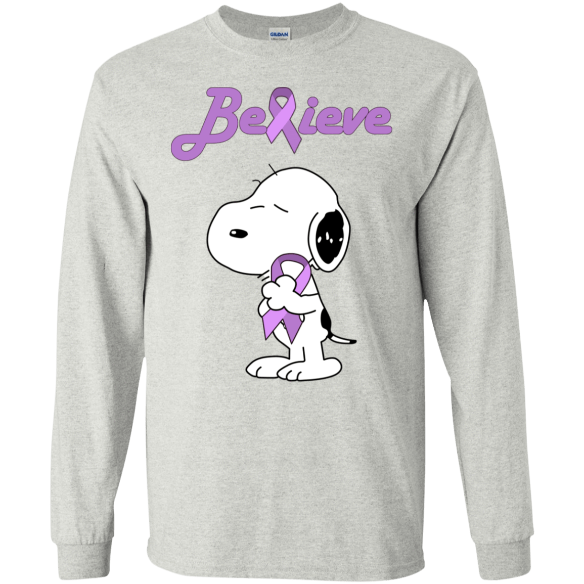 Snoopy: Believe All Cancers Lavender Awareness T-Shirts, Hoodie, Tank 30-2112-77772513-10754 - Tee Ript