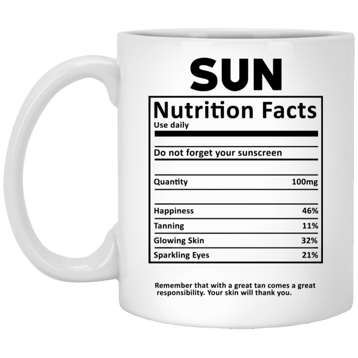 Sun Nutrition Facts Mug 1005-9786-73180824-47417 - Tee Ript