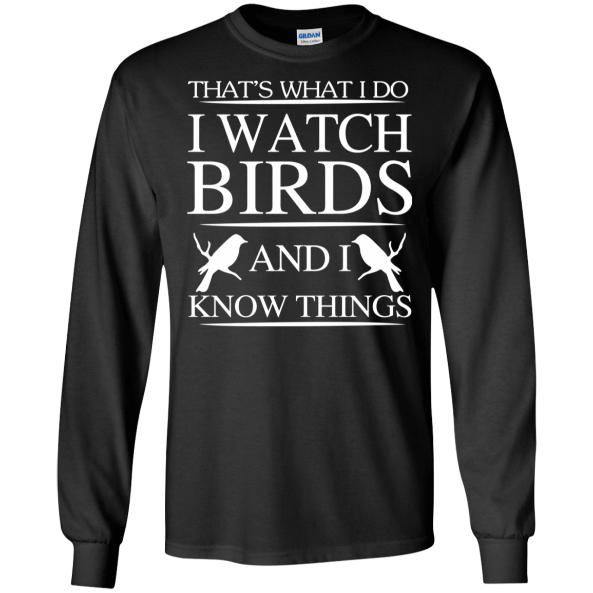 That's What I Do I Watch Birds And I Know Things 30-186-72789237-333 - Tee Ript