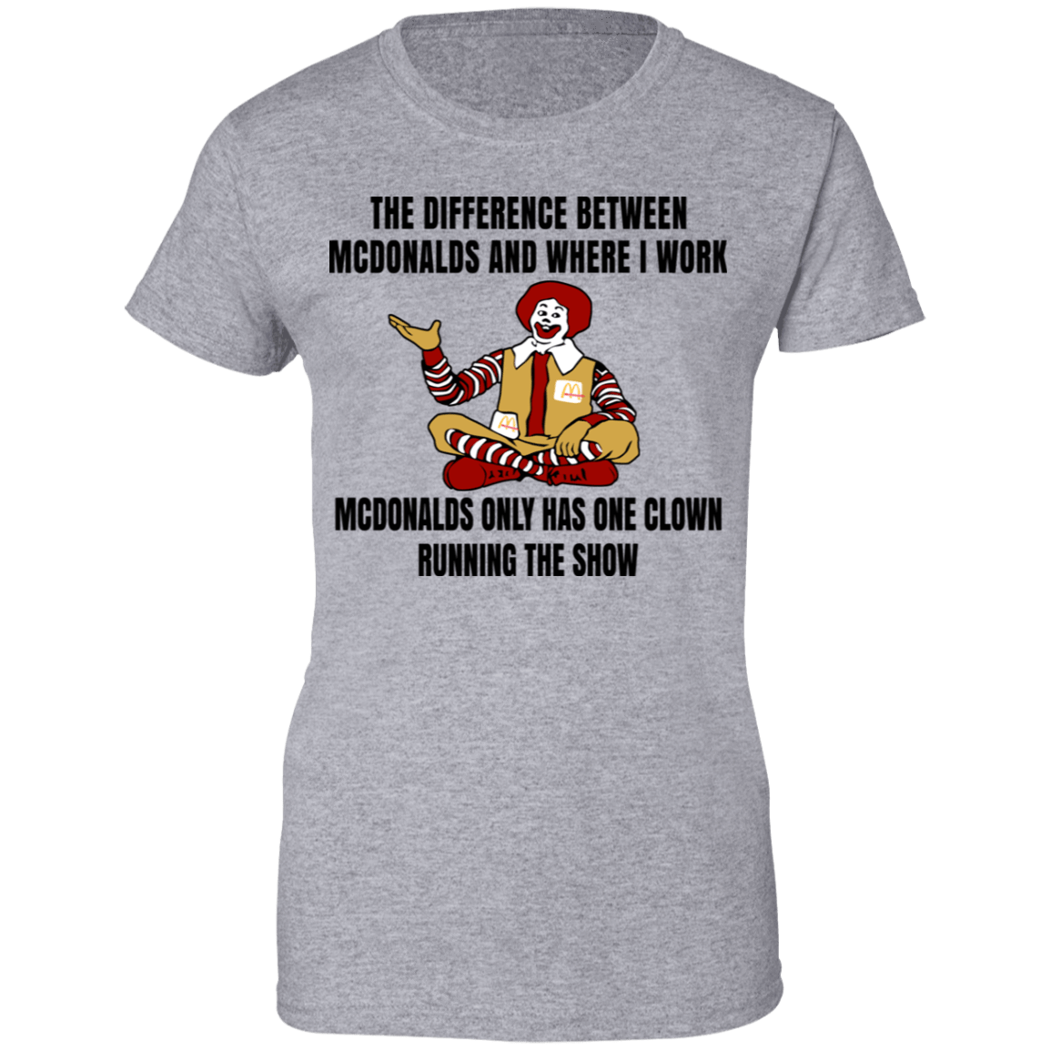 The Difference Between McDonalds And Where I Work McDonalds Only Has One Clown Running The Show T-Shirts, Hoodies, Tank 939-9265-79763382-44821 - Tee Ript