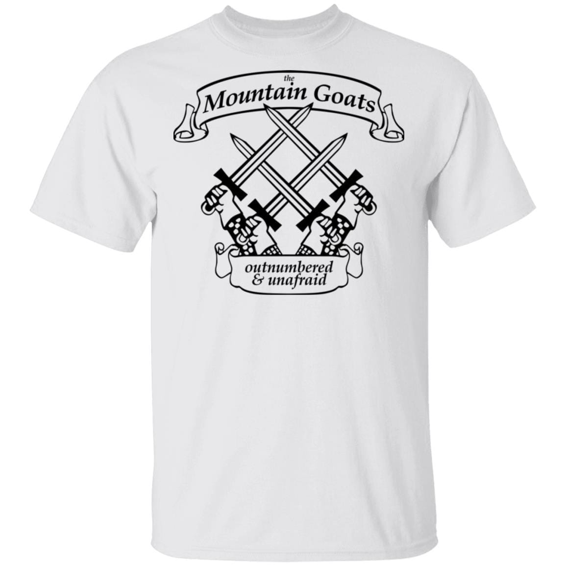 The Mountain Goats Outnumbered And Unafraid T-Shirts, Hoodies 1049-9974-92948169-48300 - Tee Ript