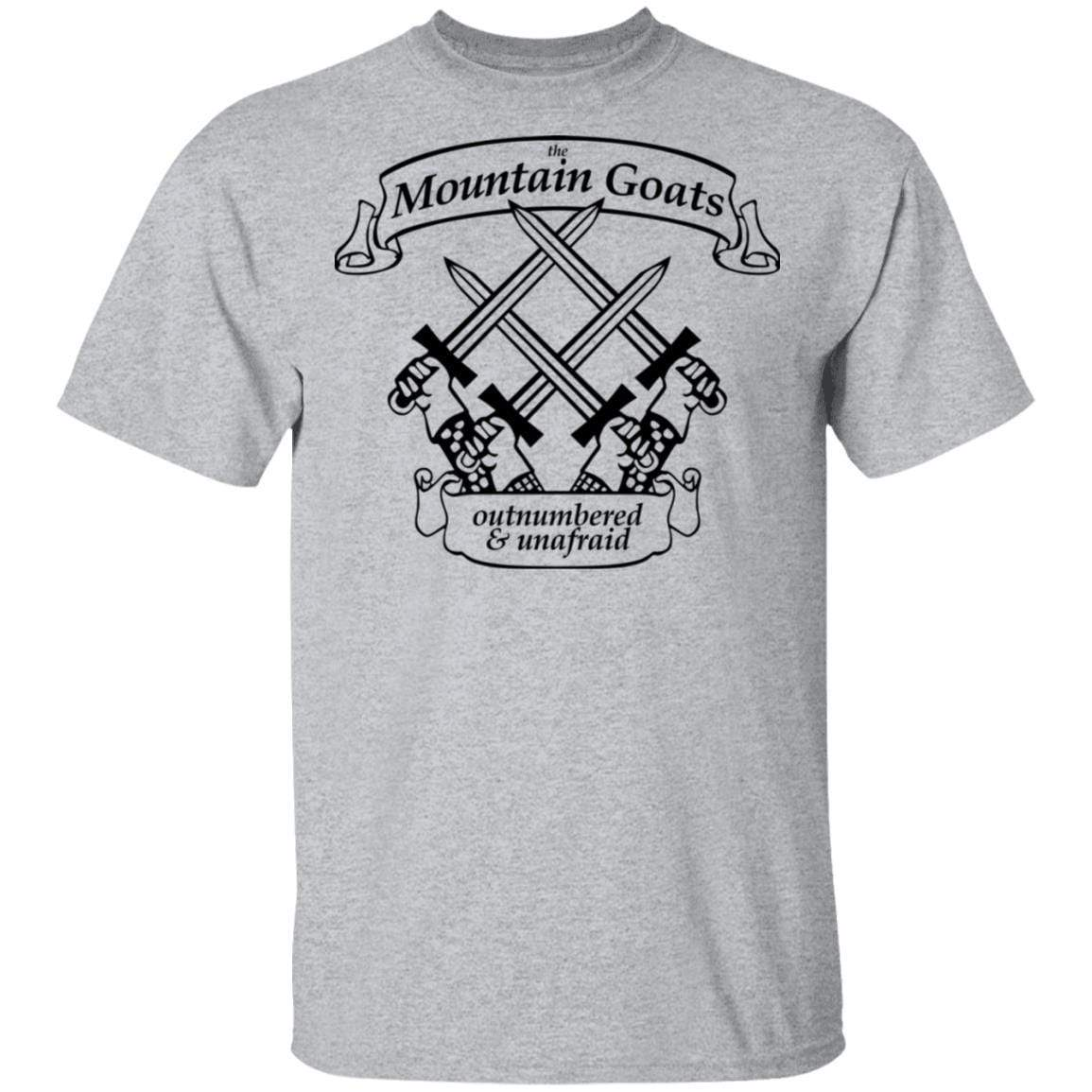 The Mountain Goats Outnumbered And Unafraid T-Shirts, Hoodies 1049-9972-92948169-48200 - Tee Ript