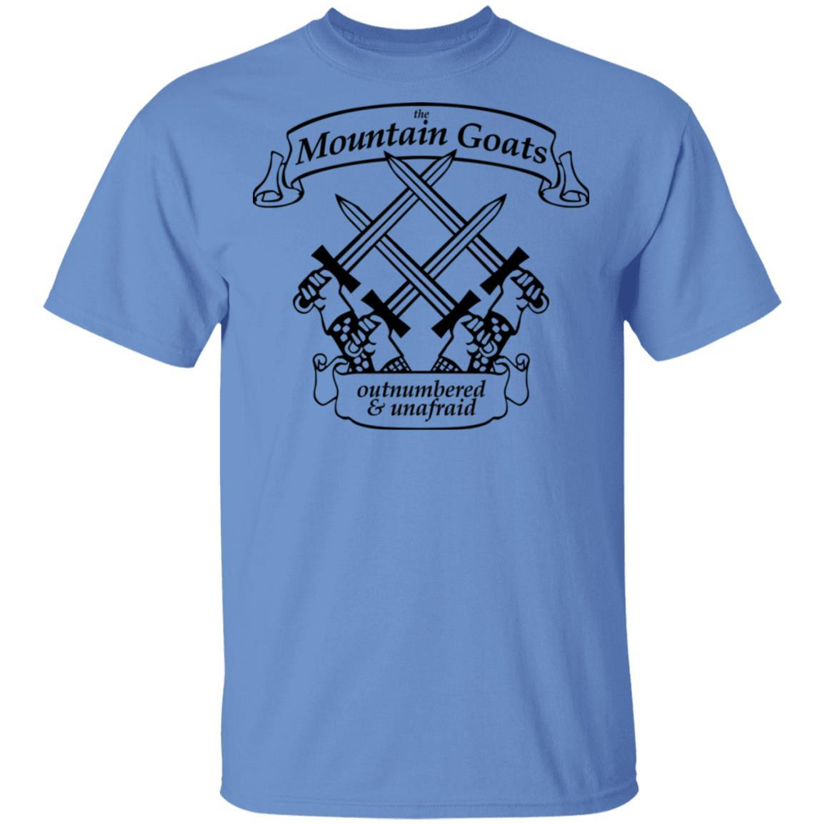 The Mountain Goats Outnumbered And Unafraid T-Shirts, Hoodies 1049-9955-92948169-48160 - Tee Ript