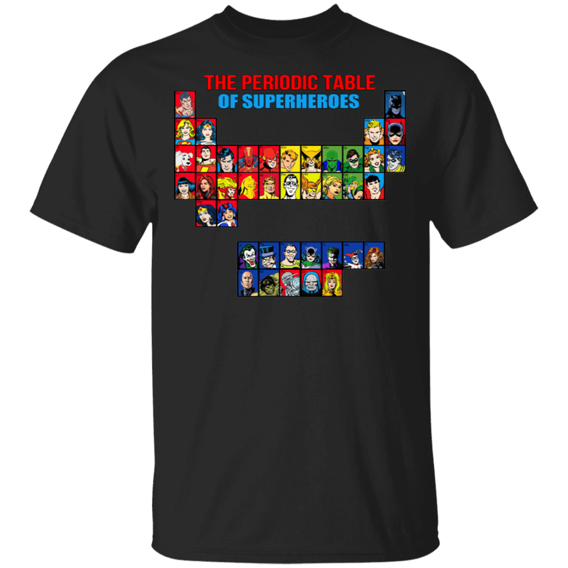 The Periodic Table Of Superheroes T-Shirts, Hoodies, Tank 22-113-79998332-252 - Tee Ript