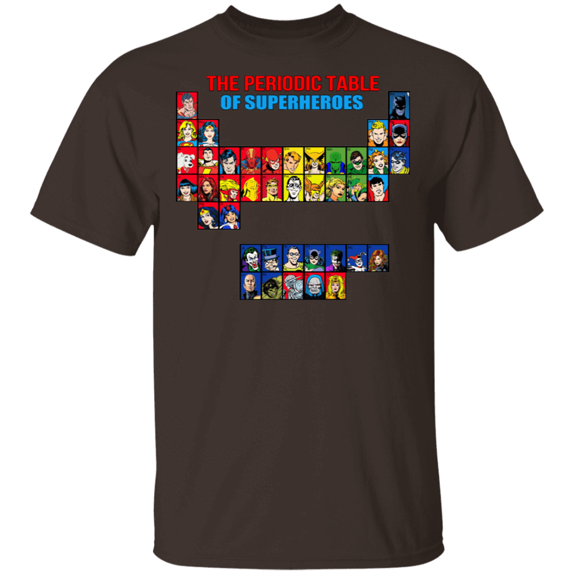 The Periodic Table Of Superheroes T-Shirts, Hoodies, Tank 22-2283-79998332-12087 - Tee Ript
