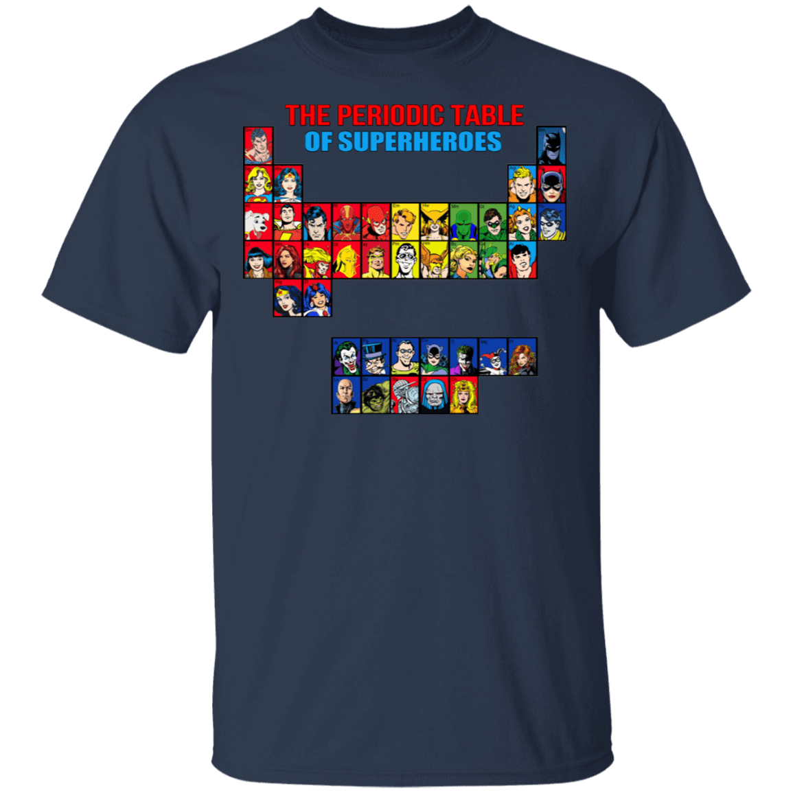 The Periodic Table Of Superheroes T-Shirts, Hoodies, Tank 22-111-79998332-250 - Tee Ript