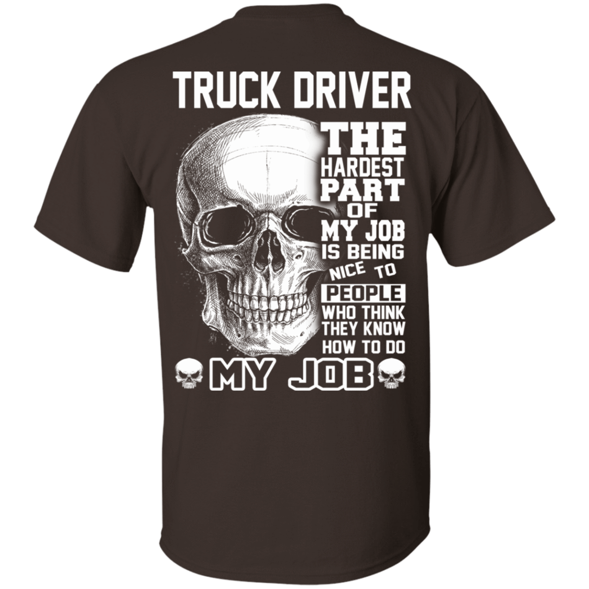 Truck Driver The Hardest Part Of My Job 22-2283-71881728-12087 - Tee Ript