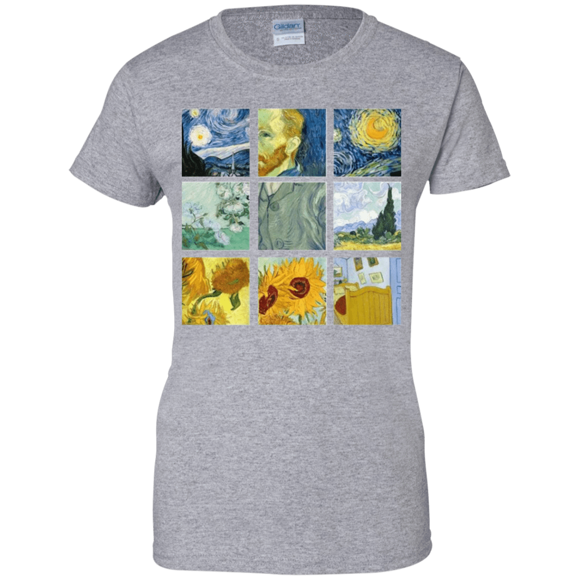Vincent Van Gogh Collage 939-9265-73056965-44821 - Tee Ript