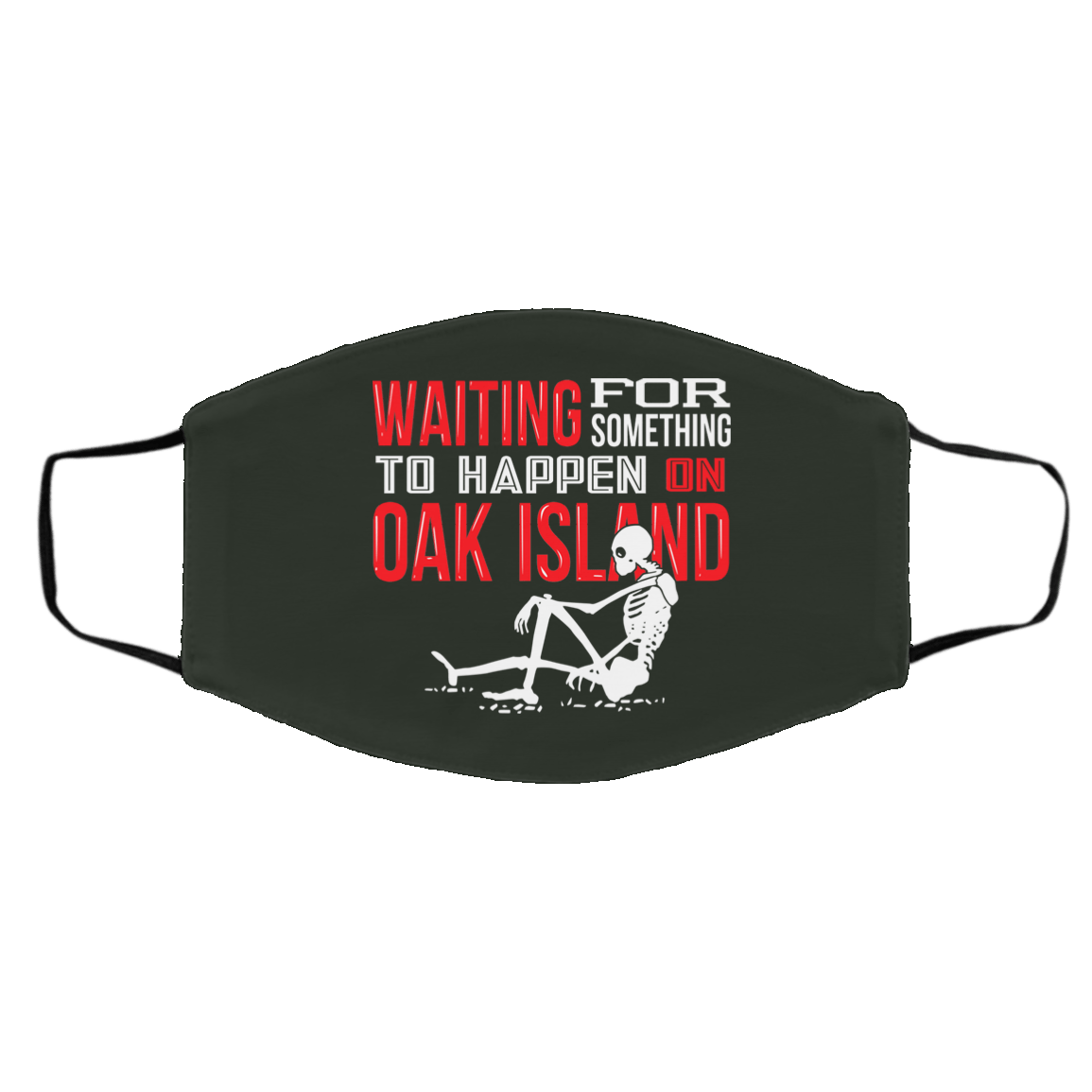 Waiting For Something To Happen On Oak Island Face Mask 1274-13177-91587533-59065 - Tee Ript