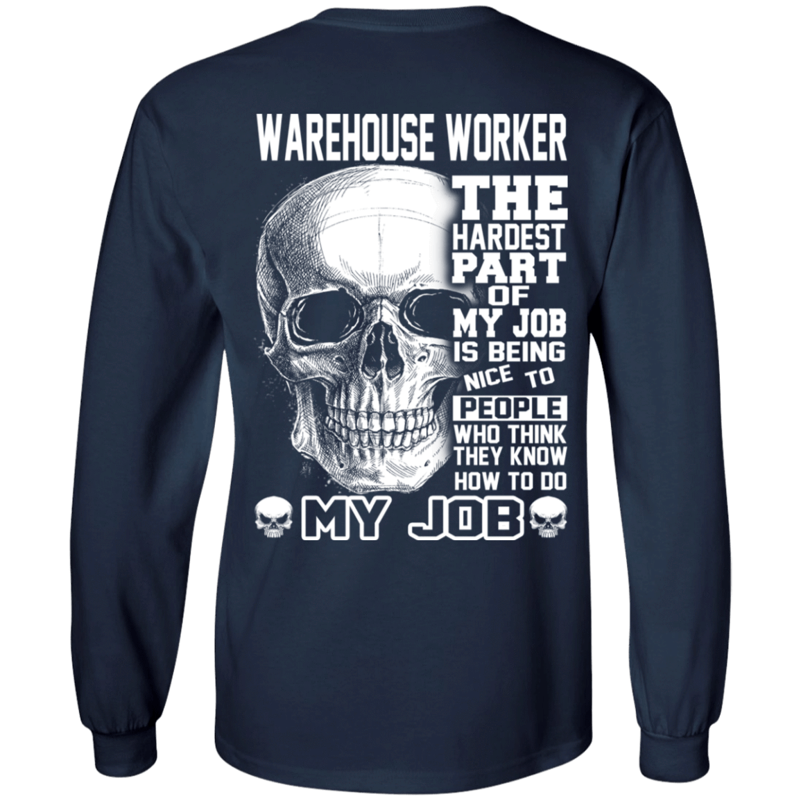 Warehouse Worker The Hardest Part Of My Job 30-184-71609200-331 - Tee Ript