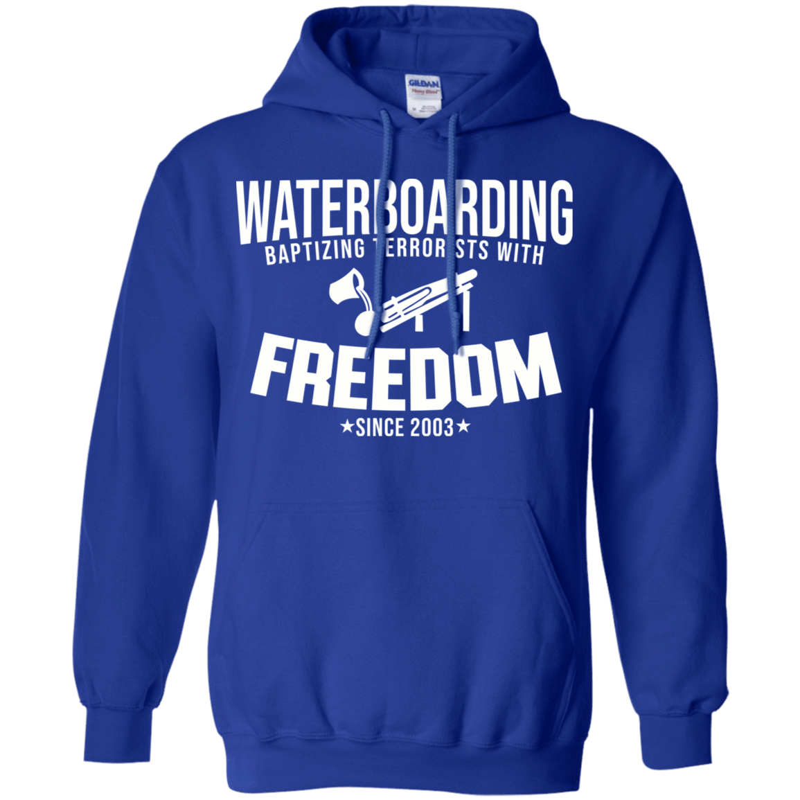 Waterboarding Baptising Terrorists With Freedom 541-4765-74046430-23175 - Tee Ript