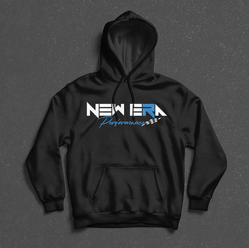 Blue on Black Adult Premium Heavyweight Pullover Hoodie