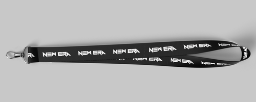Black and White NewEra Lanyard 1inch