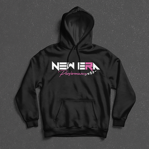 Pink on Black Adult Premium Heavyweight Pullover Hoodie