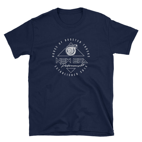 New Era Turbo White on Black/Navy Short-Sleeve Unisex T-Shirt