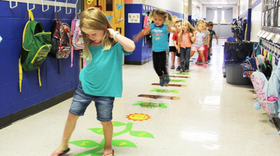 What are Sensory Hallway Paths? Elementary Schools implementing Action Based Learning Hallways
