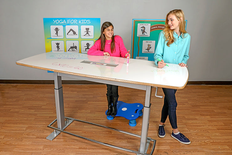 Markboard XXL Deluxe Activity Table (adjustable, foot bar and marker tray)