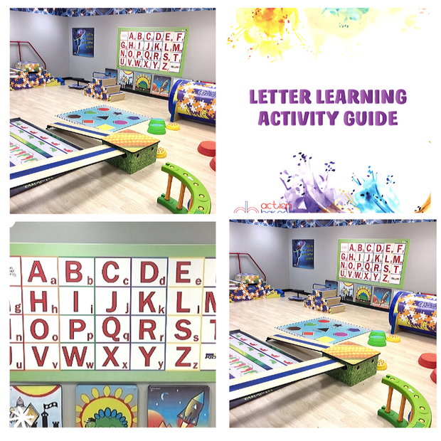 Letter Learning Wall Station - actionbasedlearning