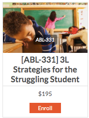 [ABL-331] 3L Strategies for the Struggling Student - actionbasedlearning