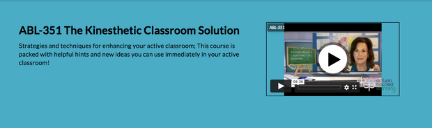 ABL-351 The Kinesthetic Classroom Solution - actionbasedlearning