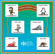 Animal Round-up Wall Station - actionbasedlearning