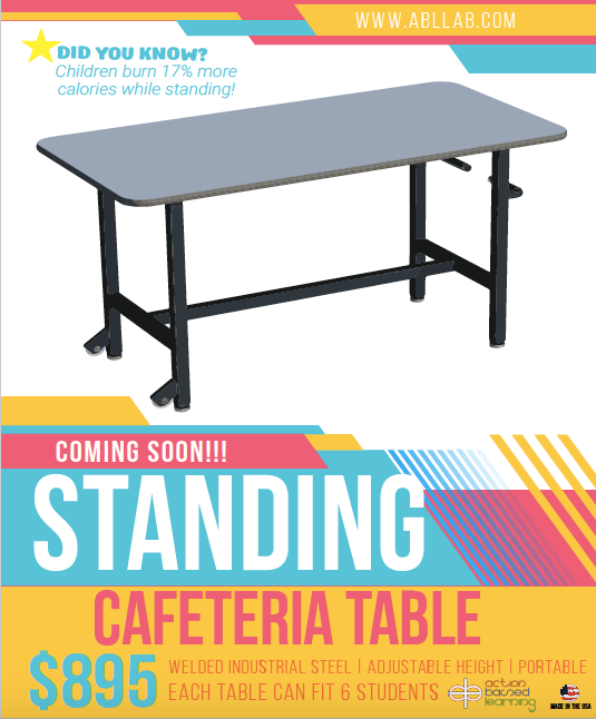 Standing Cafeteria Table