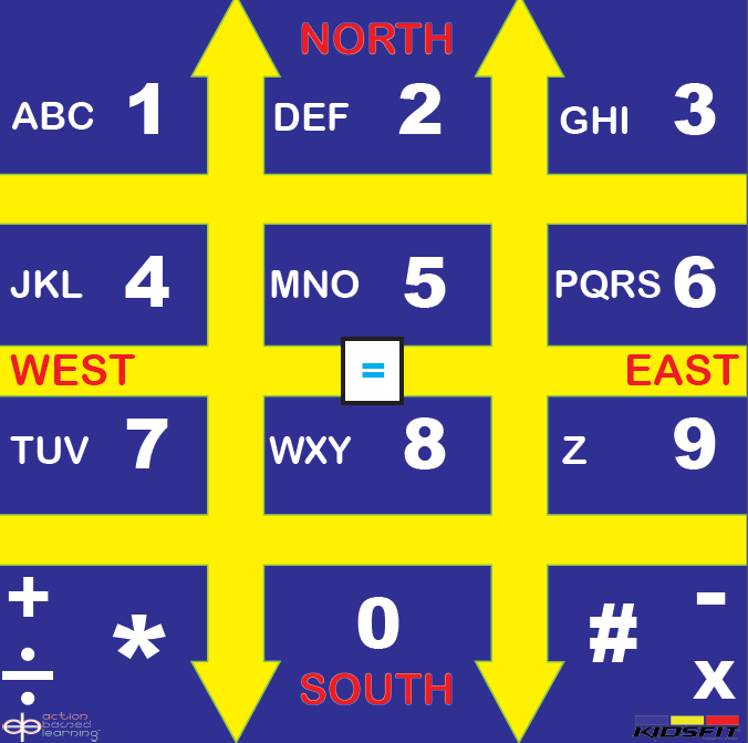 ABL Math Telephone Mat