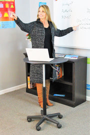 Mobile Workstation (single sit/stand desk) - actionbasedlearning