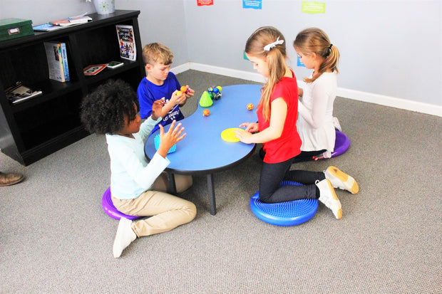 Peanut Pod Table (includes 4 sensory seat cushions) - actionbasedlearning