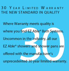 30 year Fiberglass Shower Warranty