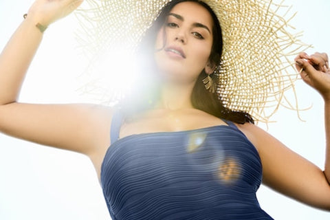 How To Style Your Swimwear With Accessories - woman in sun hat