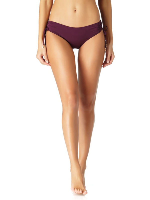Anne Cole - Alex Adjustable Side Tie Bikini Bottom Purple 1