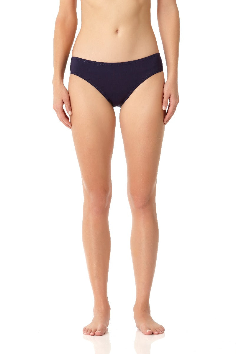 Anne Cole - Live In Color Frank Classic Retro Scoop Swim Bottom Navy 1