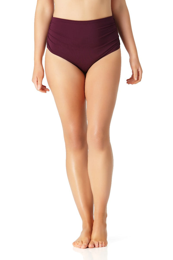 Anne Cole Plus - Convertible High Waisted Bikini Bottom