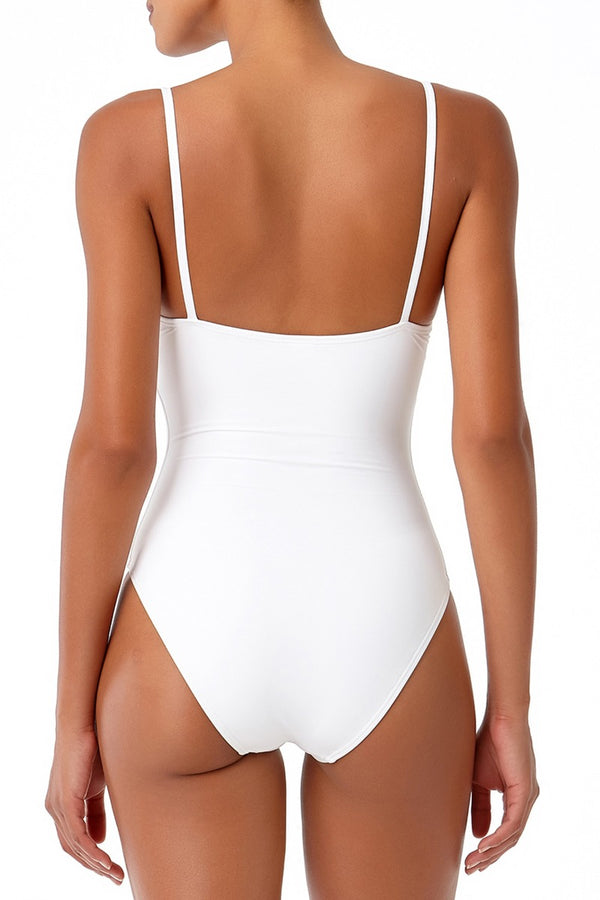 Studio Anne Cole - Vintage Lingerie Maillot One Piece Swimsuit White 2