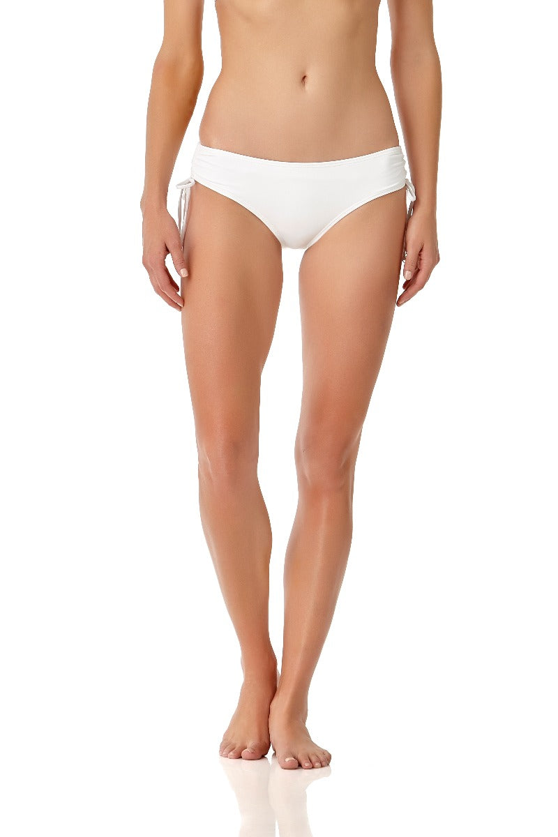 Anne Cole - Alex Side Tie Bottom White 1