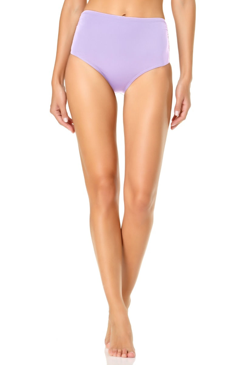 Anne Cole - Convertible High Waisted Foldver Bottom Light Purple 1