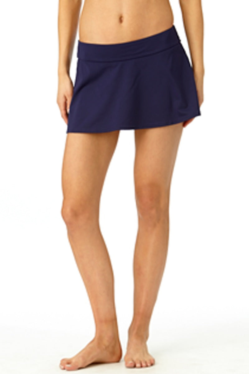 Anne Cole - Rock Swim Skirt Dark Blue 1