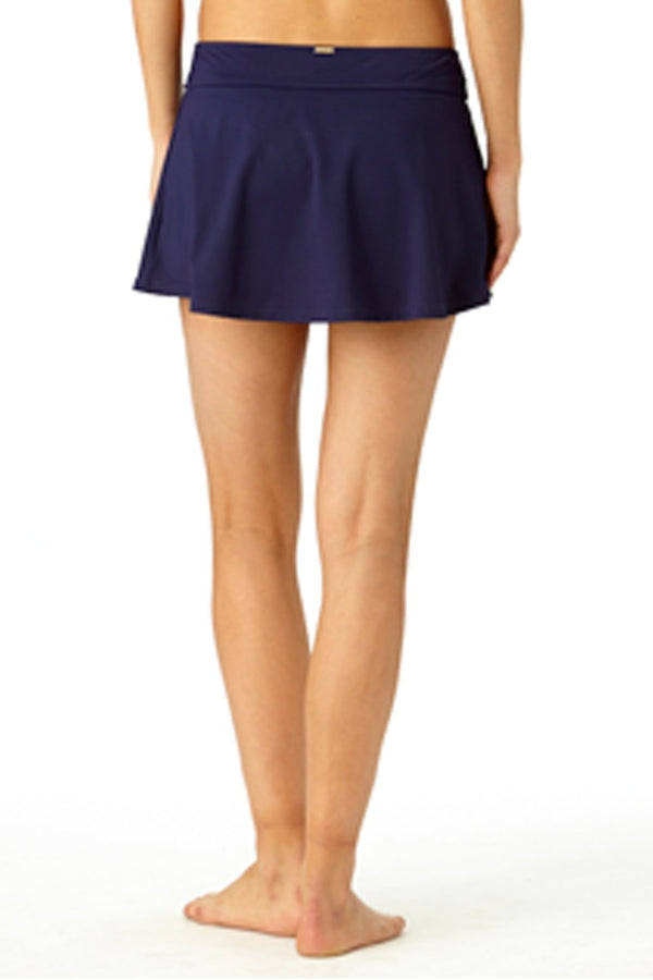 Anne Cole - Rock Swim Skirt Dark Blue 2