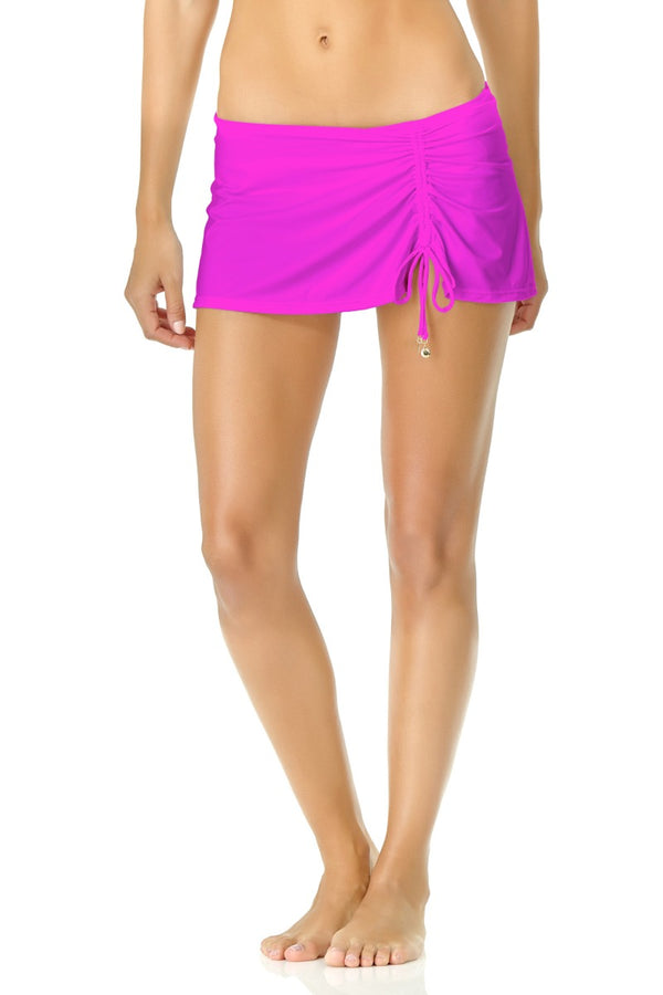 Anne Cole - Live in Color Side Slit Skirt Pink 1