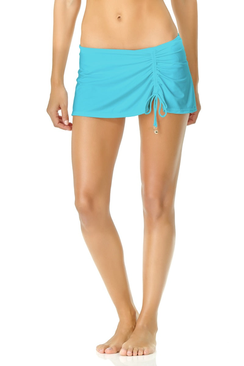 Anne Cole - Live in Color Side Slit Skirt Blue 1