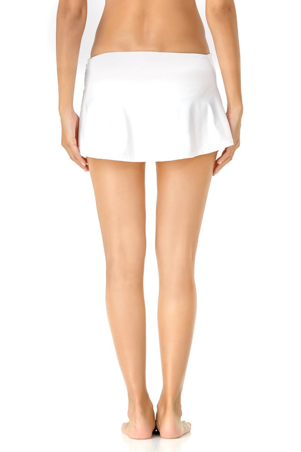 Anne Cole - Live in Color Side Slit Skirt White 2