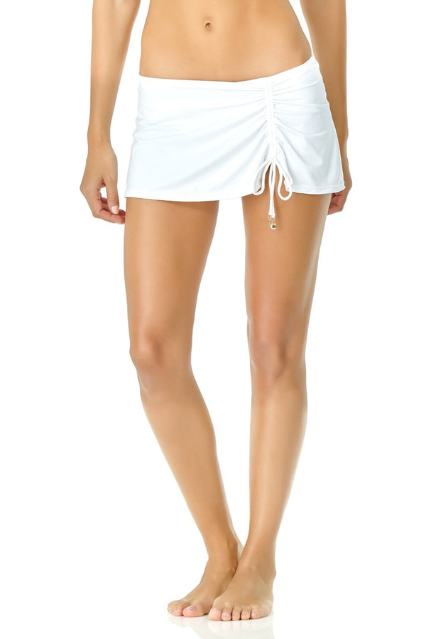 Anne Cole - Live in Color Side Slit Skirt White 1