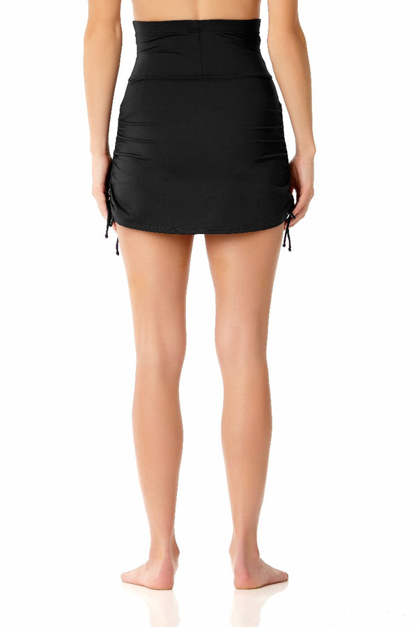 Anne Cole - Super High Waist Skirt Black 2