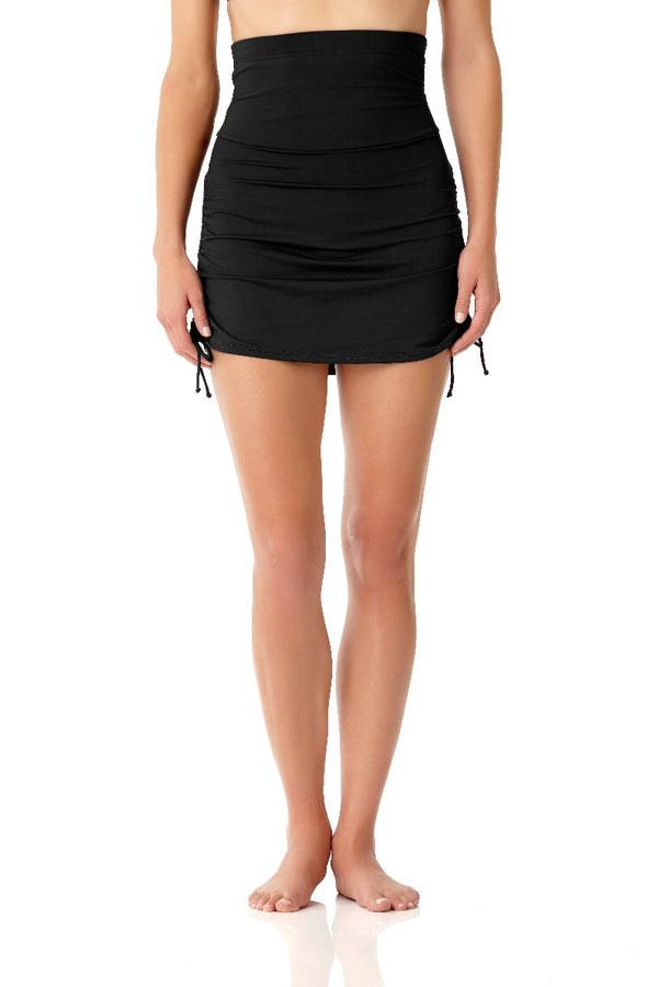 Anne Cole - Super High Waist Skirt Black 1