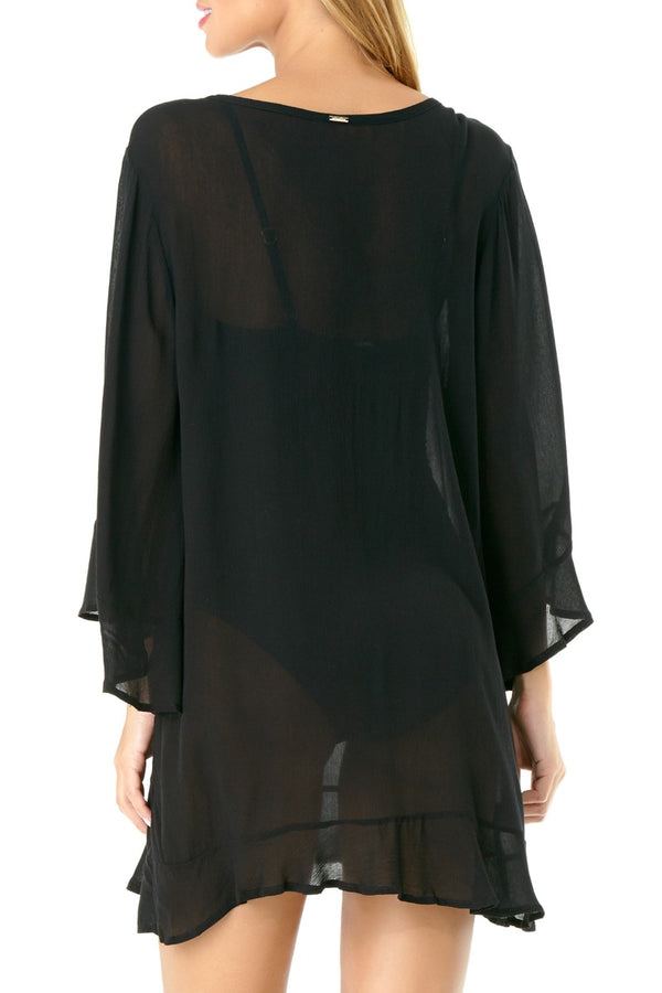 Anne Cole - Live in Color Flounce Tunic Black 2