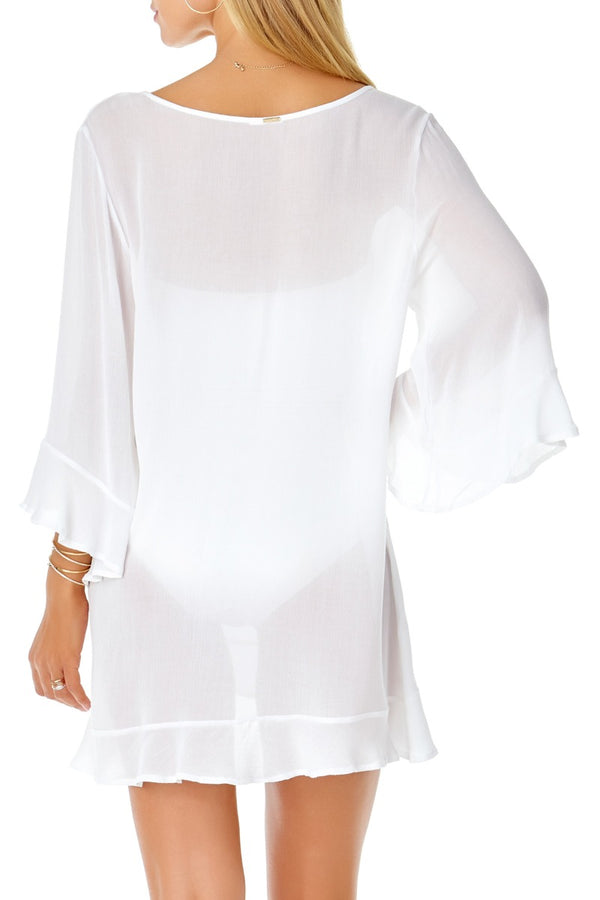 Anne Cole - Live in Color Flounce Tunic White 2