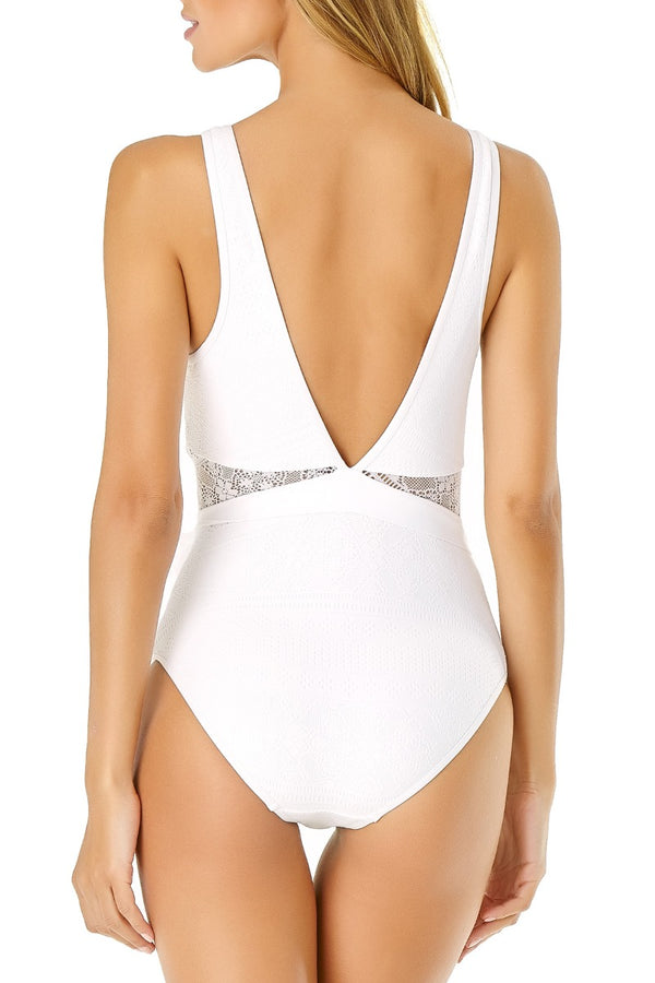 Anne Cole - Crochet High Neck One Piece