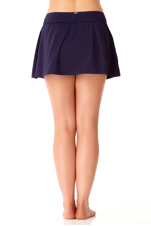 Anne Cole Plus - Live in Color Rock Swim Skirt Navy 2